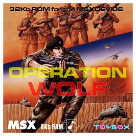 Box cover for Operation Wolf on the MSX.