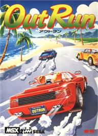 Box cover for Out Run on the MSX.