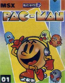 Box cover for Pac-Mania on the MSX.