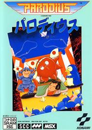 Box cover for Parodius on the MSX.