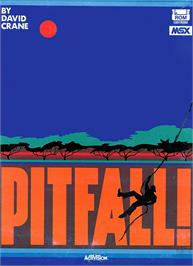 Box cover for Pitfall on the MSX.