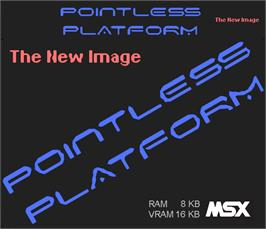 Box cover for Pointless Platform on the MSX.