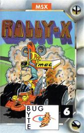Box cover for Rally X on the MSX.
