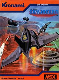 Box cover for Sky Jaguar on the MSX.