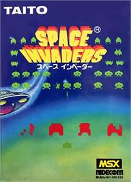 Box cover for Space Invaders on the MSX.