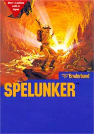 Box cover for Spelunker on the MSX.