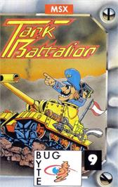 Box cover for Tank Battalion on the MSX.