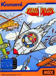 Box cover for Time Pilot on the MSX.