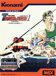 Box cover for Track & Field on the MSX.