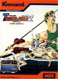Box cover for Track & Field 2 on the MSX.