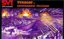 Box cover for Turboat on the MSX.