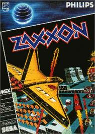 Box cover for Zaxxon on the MSX.