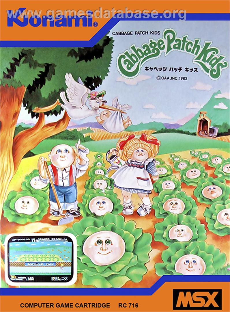 Cabbage Patch Kids Adventures in the Park - MSX - Artwork - Box