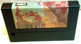 Cartridge artwork for Castle Excellent on the MSX.