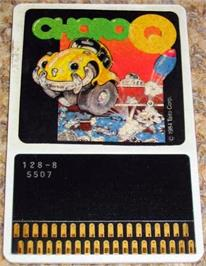Cartridge artwork for Choro Q on the MSX.