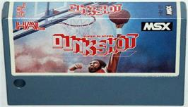 Cartridge artwork for Dunk Shot on the MSX.