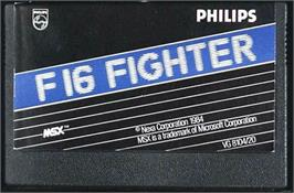 Cartridge artwork for F-16 Fighting Falcon on the MSX.