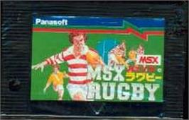 Cartridge artwork for MSX Rugby on the MSX.