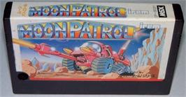 Cartridge artwork for Moon Patrol on the MSX.