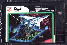 Cartridge artwork for Nemesis 2 on the MSX.