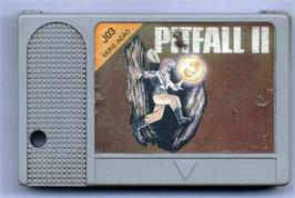 Cartridge artwork for Pitfall II on the MSX.