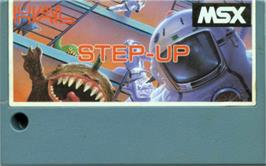 Cartridge artwork for Step Up on the MSX.