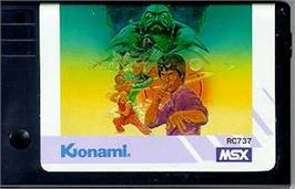 Cartridge artwork for Yie Ar Kung-Fu on the MSX.