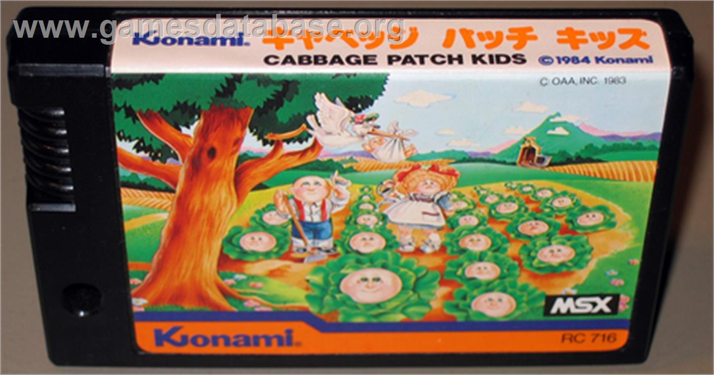 Cabbage Patch Kids Adventures in the Park - MSX - Artwork - Cartridge