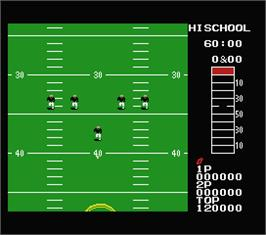 In game image of 10-Yard Fight on the MSX.