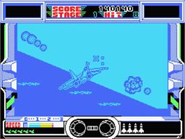 In game image of After Burner on the MSX.