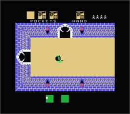 In game image of Alcazar: The Forgotten Fortress on the MSX.