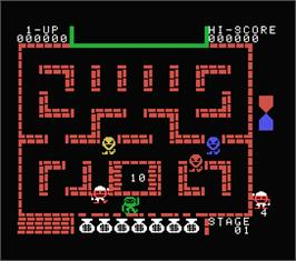 In game image of Alibaba and 40 Thieves on the MSX.