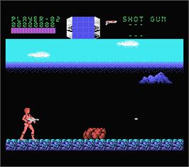 In game image of Aliens on the MSX.