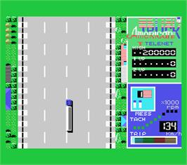 In game image of American Truck on the MSX.
