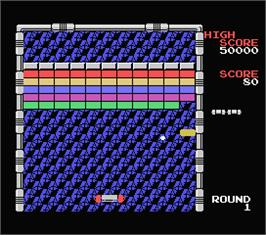 In game image of Arkanoid on the MSX.