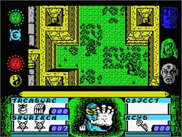 In game image of Avenger on the MSX.