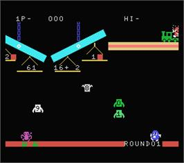 In game image of Balance on the MSX.