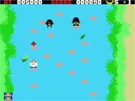 In game image of Barunba on the MSX.