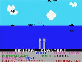 In game image of Beach Head on the MSX.