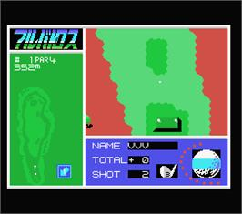 In game image of Blasteroids on the MSX.