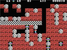 In game image of Boulder Dash on the MSX.