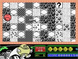 In game image of Bounder on the MSX.
