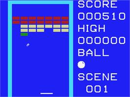 In game image of Breakout on the MSX.