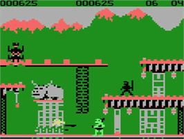 In game image of Bruce Lee on the MSX.