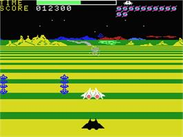 In game image of Buck Rogers: Planet of Zoom on the MSX.