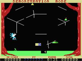 In game image of Buzz Off on the MSX.