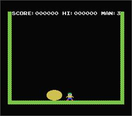 In game image of Cannon Ball on the MSX.