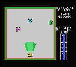 In game image of Car Jamboree on the MSX.