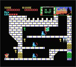 In game image of Castle Excellent on the MSX.