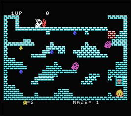 In game image of Chack'n Pop on the MSX.